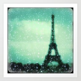 Paris... Je t'aime Art Print