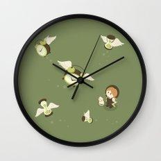 Girl Watching Time Flies Wall Clock