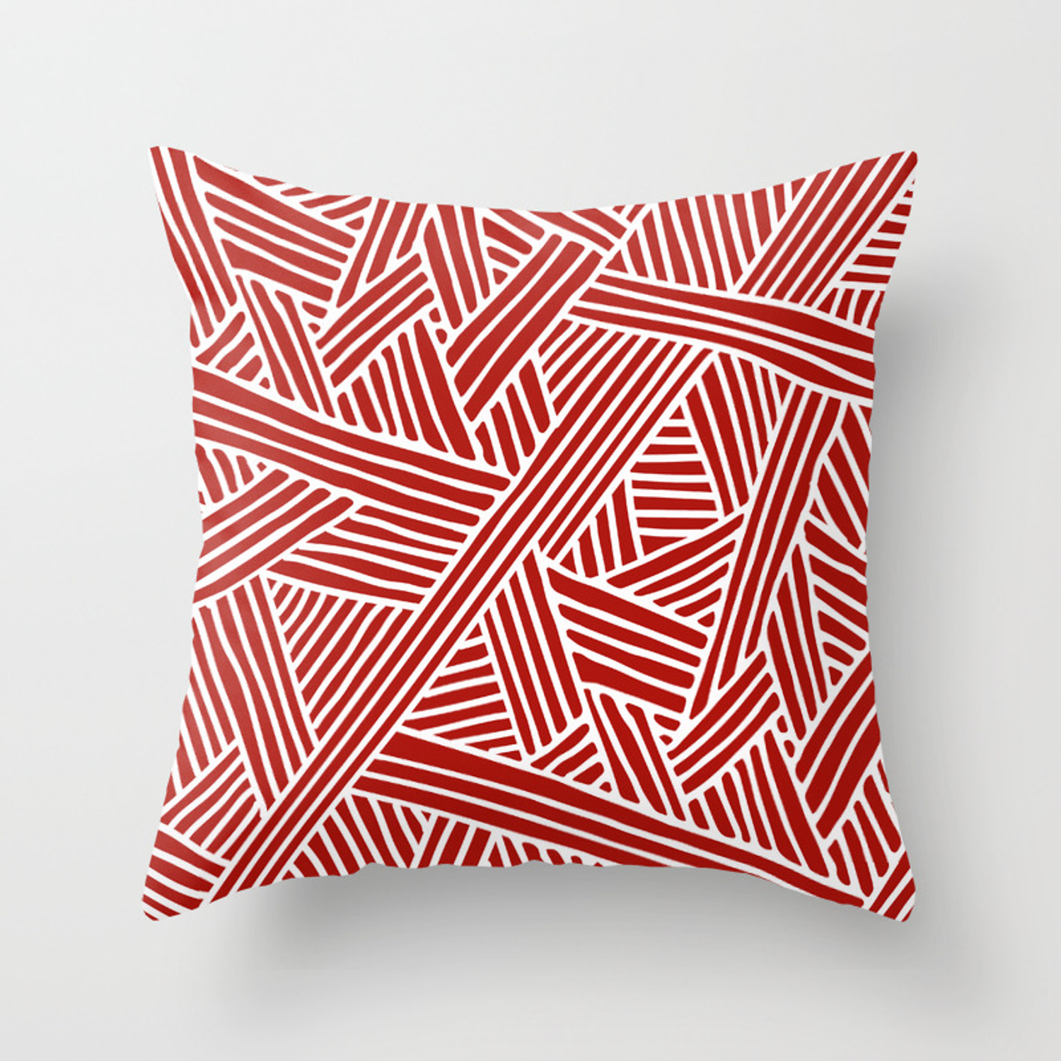 Abstract Navy Red White Lines And Triangles Pattern Throw Pillow By Simplicity Of Live Society6