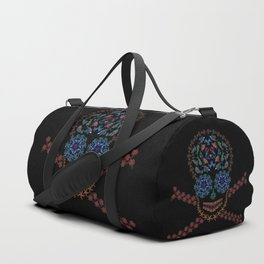 Marine Creatures Skull Duffle Bag