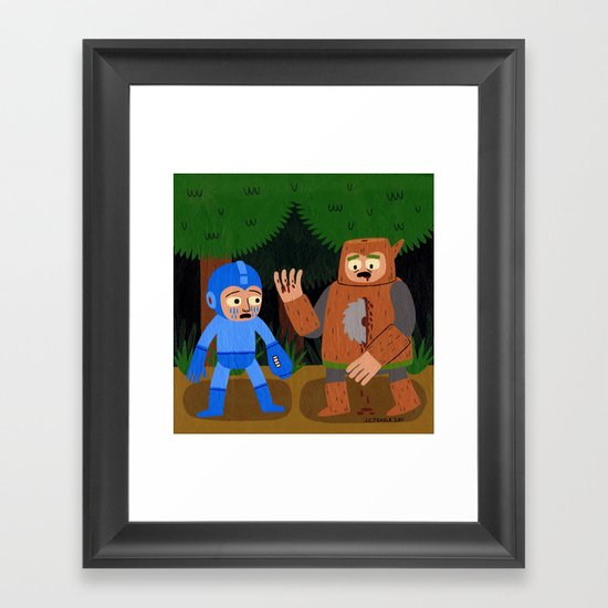 The Death of Woodman Framed Art Print