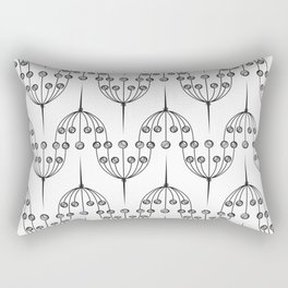 Abstract geometric pattern with floral elements Rectangular Pillow