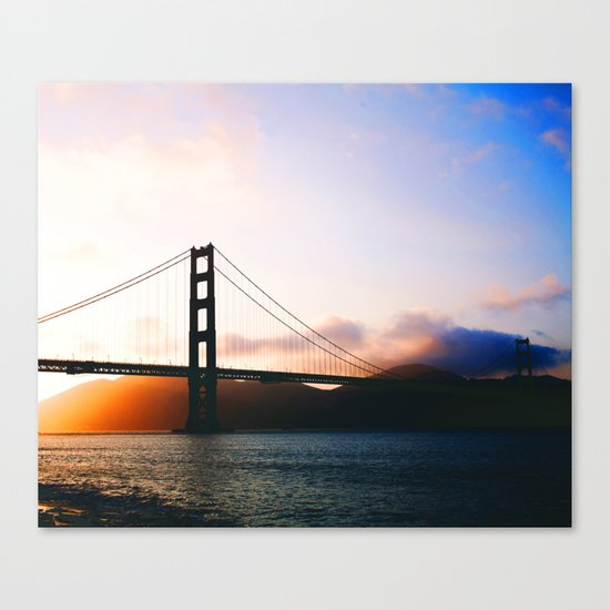 Golden Gate Bridge Sunrise, San Francisco Bay Canvas Print