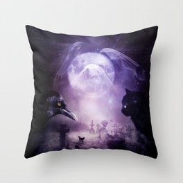 In The Glow of Darkness We Wait Throw Pillow