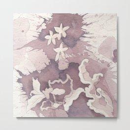 Floral Paisley Metal Print