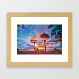 Naples MashUp XI Framed Art Print