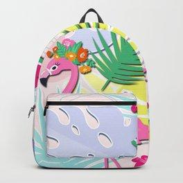 Aloha Pink Flamingo Art Backpack