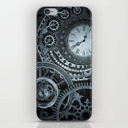 Silver Steampunk Clockwork iPhone Skin