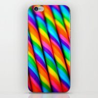 candy iPhone & iPod Skins featuring Rainbow Candy : Candy Canes by WhimsyRomance&Fun