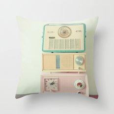 Radio Stations Throw Pillow