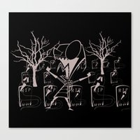 invader zim Canvas Prints featuring invader zim by LCMedia