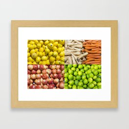 Produce Pattern Framed Art Print