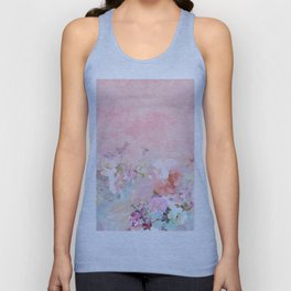 Modern blush watercolor ombre floral watercolor pattern Unisex Tank Top