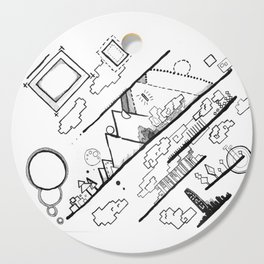 Abstract Ink Village Cutting Board