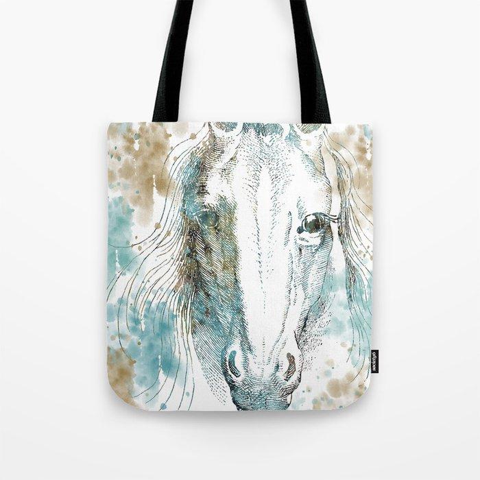 Watercolor Horse Tote Bag