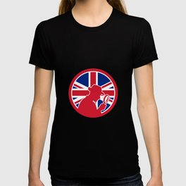 British Private Investigator Union Jack Flag Icon T-shirt