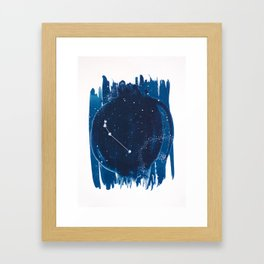 Aries Zodiac Print Framed Art Print