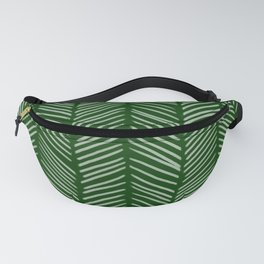 Forest Green Herringbone Fanny Pack