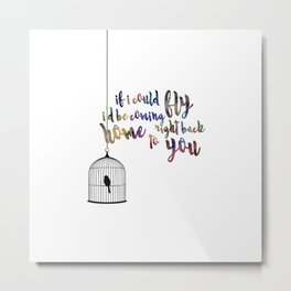 if i could fly Metal Print