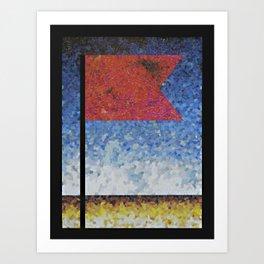 COLLAGE LOVE: Red Flag Art Print