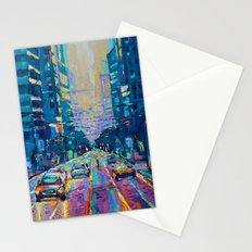 Streets of San Francisco - modern urban city landscape at sunrise by Adriana Dziuba Stationery Cards