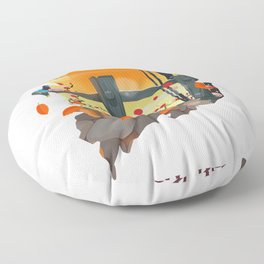 South Korea Map Floor Pillow