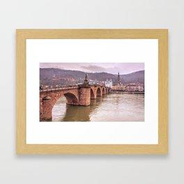 Heidelberg Bridge Framed Art Print