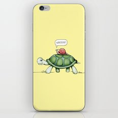 The Snail & The Turtle iPhone & iPod Skin