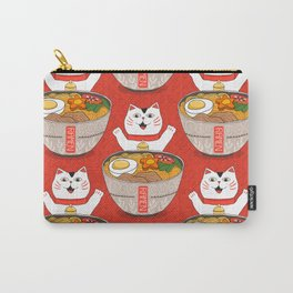 Liter of Ramen. Japanese soup and Manekineko cat. Carry-All Pouch