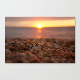 Town Beach Sunset Canvas Print