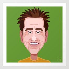 Comics of Comedy: Jim Carrey Art Print