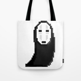 Kaonashiカオナシ (no face) pixel Tote Bag
