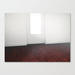 Soft rays of light in the modern interior. Canvas Print