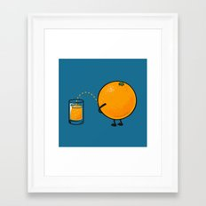 Orange Juice Framed Art Print