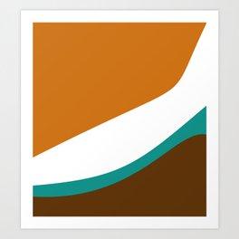 Caramel Tide Art Print