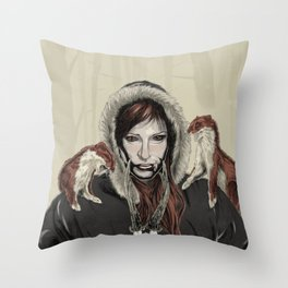 SKAÐI - Dweller of the Rocks Throw Pillow