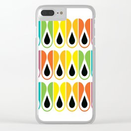 Geometric Pattern #120 (colorful loops) Clear iPhone Case