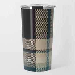 Christmas Plaid 9 (Blue) Travel Mug
