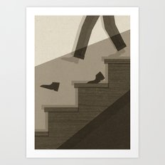 One Step Ahead Art Print