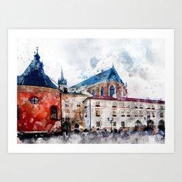 Cracow art 21 #cracow #krakow #city Art Print