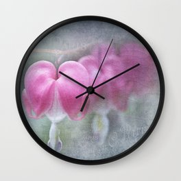 Bleeding heart (Dicentra spectabils) Wall Clock