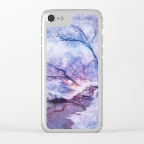 Winter fairy tale Clear iPhone Case