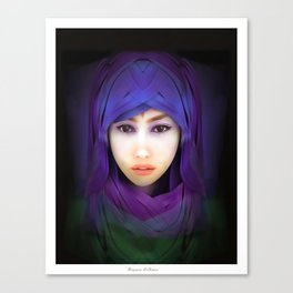 Model Portrait Canvas Print