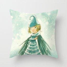 Goblins Drool, Fairies Rule! - Snowflake Shelly Throw Pillow