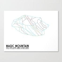 Magic Mountain, VT - Minimalist Winter Trail Art Canvas Print