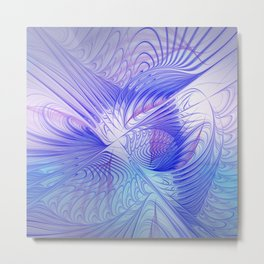 blue and lilac on texture Metal Print