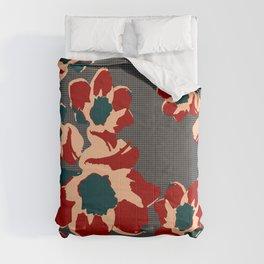 Daffy Grid Daffodils Comforters