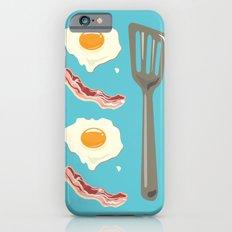bacon & eggs, blue iPhone 6s Slim Case