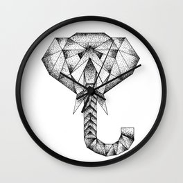 Elephant Diamond Wall Clock