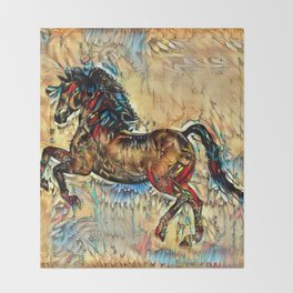 Painted Pony Throw Blanket